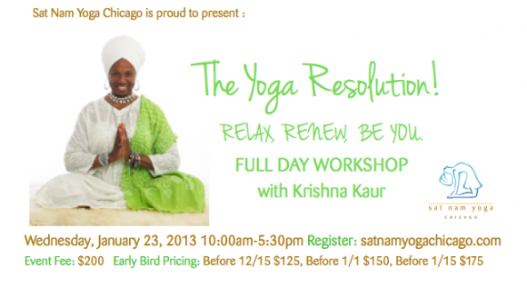 The Yoga Resolution! Workshop: Chicago, Ill
