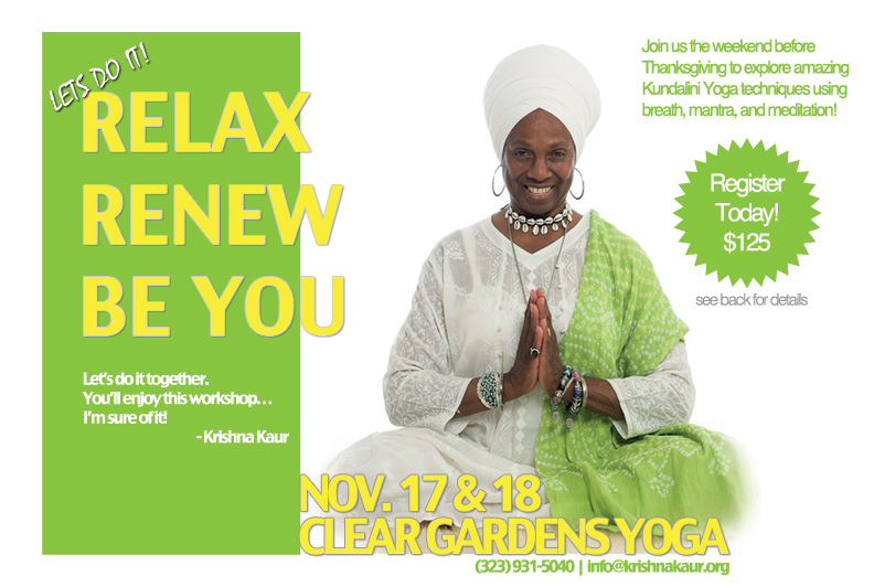 Relax – Renew – Be You! Workshop: Los Angeles