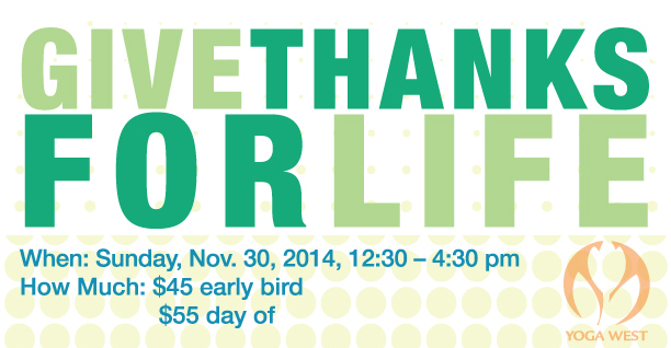 Give Thanks For Life: Yoga Workshop