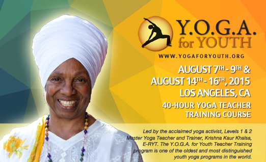 Y.O.G.A. for Youth Teacher Training