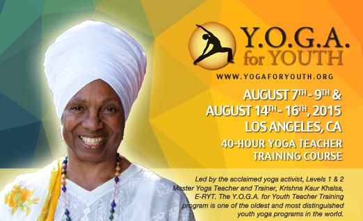 Y.O.G.A. for Youth Teacher Training