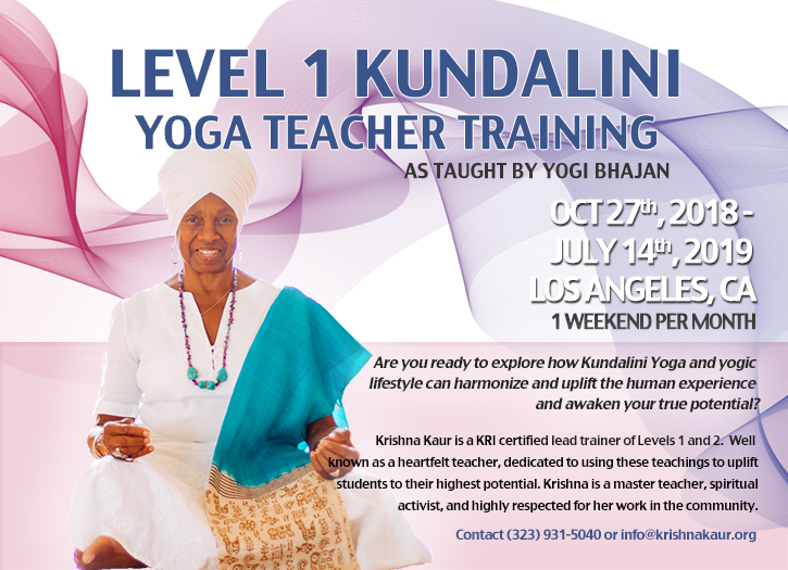 2018 – 2019 KRI Level 1 Teacher Training