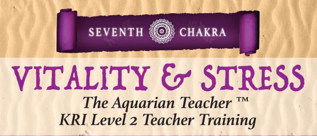 KRI Level 2 Teacher Training – Vitality & Stress