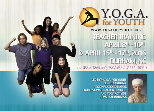 Y.O.G.A. For Youth Teacher Training-Durham, NC